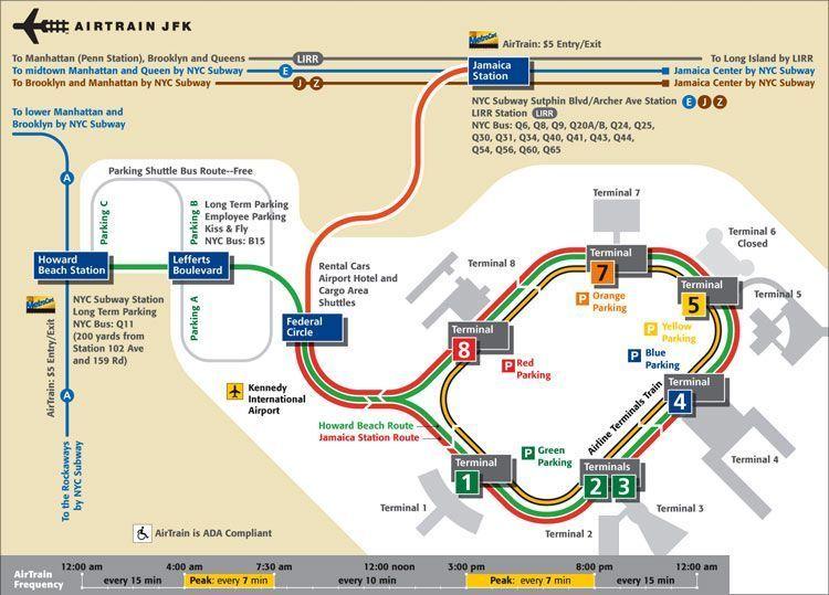 JFK map