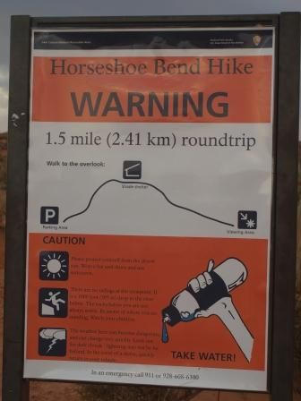 Mapa desnivel Horseshoe Bend