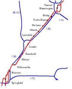 MAPA 2 BLLOMINGTON SPRINGFIELD