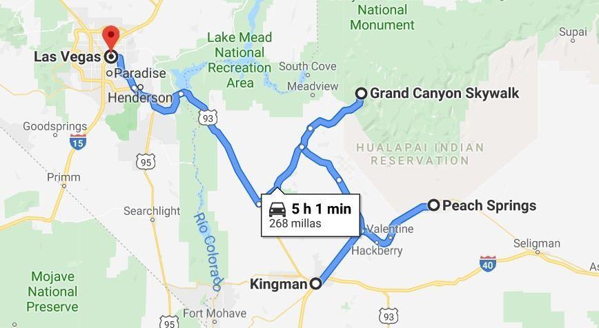 Como llegar a Grand Cnayon West