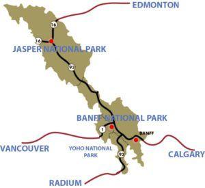 Mapa acceso Banff