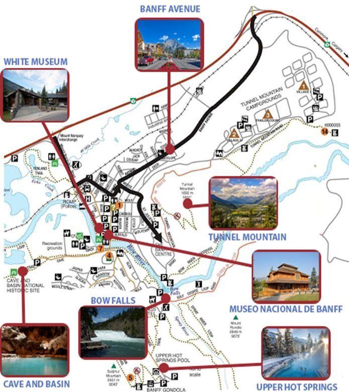 mapa banff