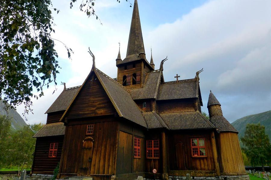 Iglesia de un Viaje a Noruega